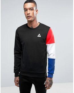 Tricolore Crew Sweatshirt In Black 1710411
