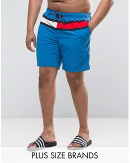 Plus Flag Swim Shorts In Blue