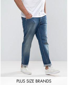 Plus Bleecker Slim Jeans In Mid Wash