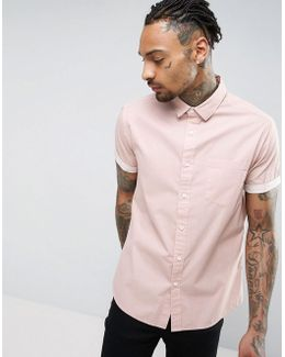 Regular Fit Laundered Shirt In Pink