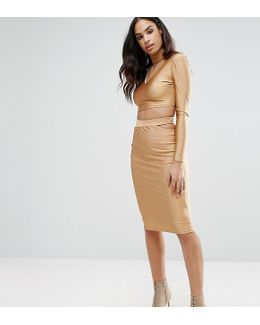 Midi Skirt With Cut Out Co-ord