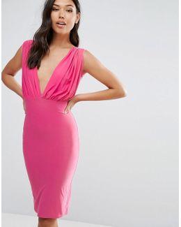 Bow Back Midi Dress