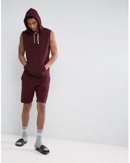 Jersey Shorts In Burgundy