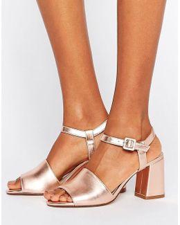 Flared Heel Sandal
