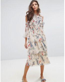 Floral Printed Ruffle Dress