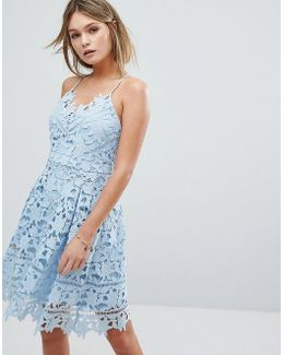 Premium Cutwork Lace Skater Dress