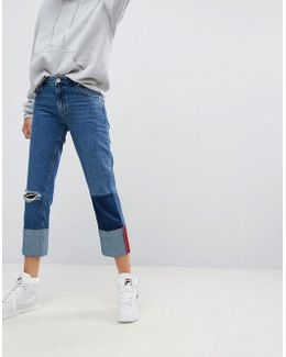 Deep Turn Up Jeans With Bound Selvedge