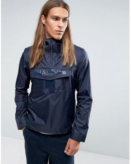 Asheville Overhead Jacket Hooded Lightweight Ripstop In Navy