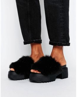 Tooty Fruity Furry Chunky Mules