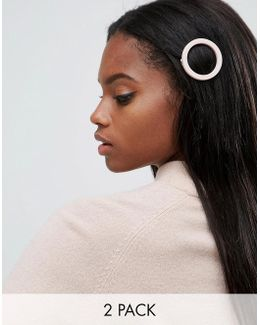 Pack Of 2 Soft Open Hair Clips