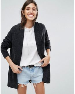 Chunky Knit Cardigan In Wool Mix