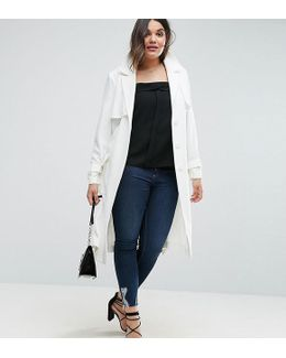 Mac In Structured Crepe With Oversized Pockets