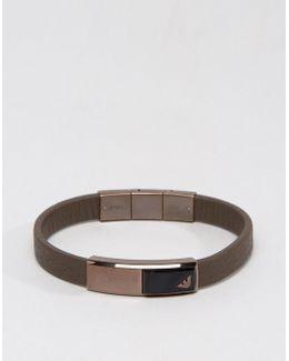 Eagle Leather Bracelet In Brown