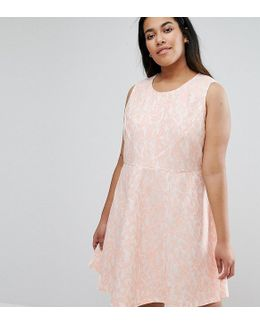 Plus Skater Dress In Lace