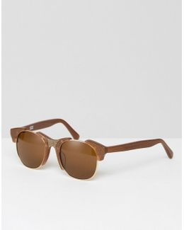 Sun Bronze Glitter Sunglasses With Tinted Lens
