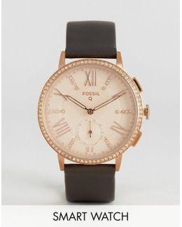 Q Ftw1105 Gray Leather Gazer Smart Watch