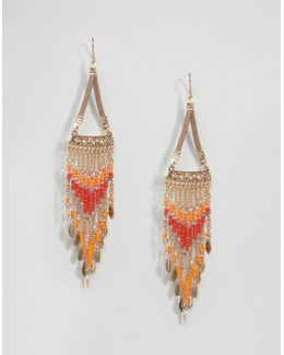 Statement Colorful Seadbead Drop Earrings