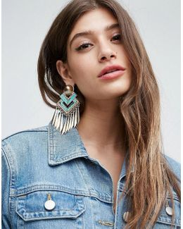 Statement Festival Metal Tassel Earrings