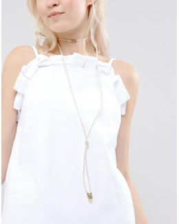 Cord Knot Bolo Choker Necklace