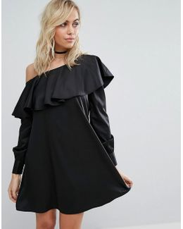One Shoulder Shirt Dress