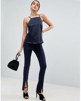 Sexy Skinny Pant With Split Front