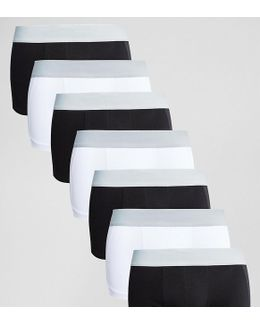 Hipsters With Cut & Sew Mesh In Monochrome 7 Pack