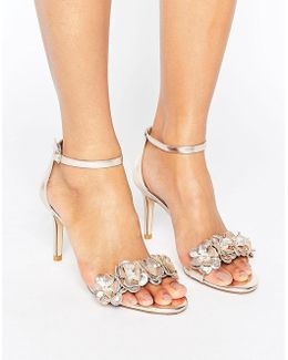 Magnolea Heeled Sandal With Applique