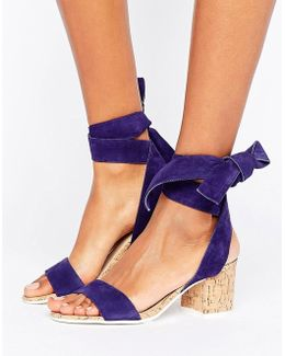 Jonee Suede Wraparound Block Heel Sandals
