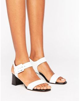 Jetty Croc Block Heeled Sandals