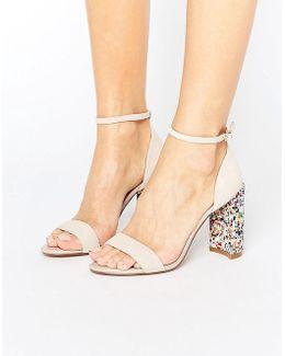 Millions Multicolor Block Heeled Sandals