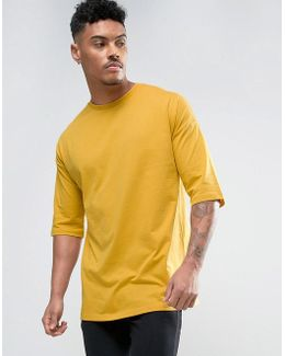 Oversized T-shirt With Half Sleeve In Yellow