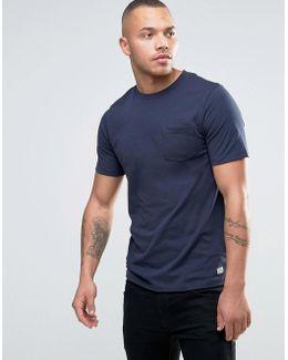 Vintage Crew Neck Pocket T-shirt