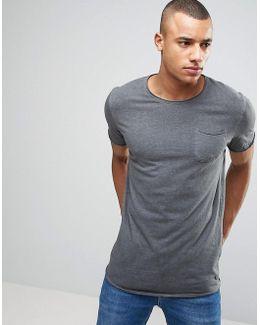 Vintage Longline T-shirt With Pocket