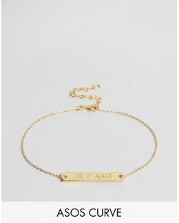 Exclusive Gold Plated Sterling Silver Je T'aime Bracelet