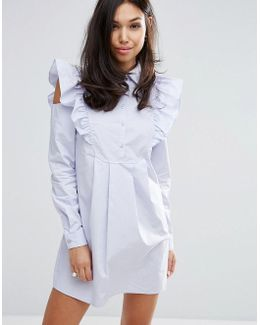 Shirt Dress With Sleeve Detail