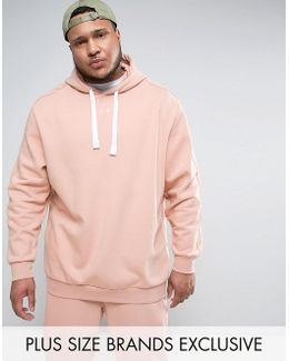 Plus Logo Hoodie In Pink Exclusive To Asos 57532702