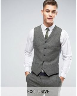 Slim Vest In Fleck Wool