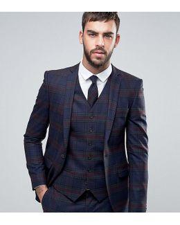 Super Skinny Suit Jacket In Plaid