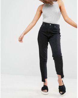 Kimomo Step Hem Jeans