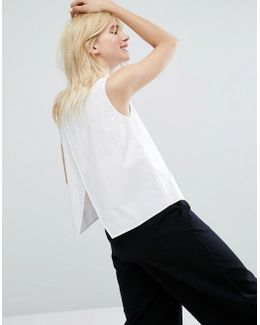 Open Back Sleeveless Shirt