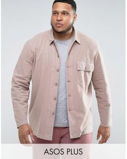 Plus Worker Overshirt In Pink