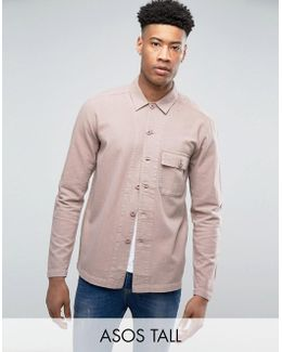 Tall Worker Overshirt In Pink