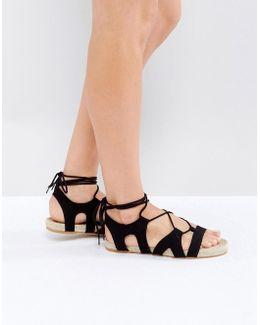Jordy Lace Up Espadrille Sandals