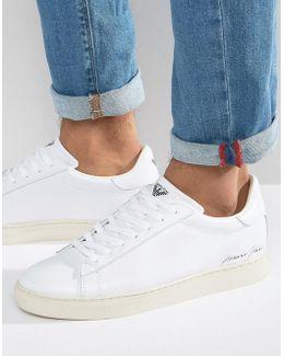 Elastic Sneakers In White