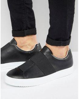 Elastic Sneakers In Black