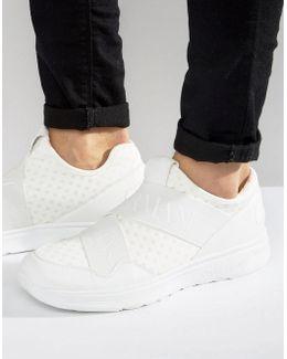 Elastic Runner Sneakers In White
