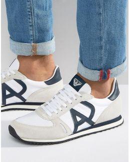 Logo Runner Sneakers In White
