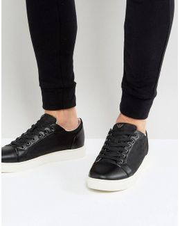 All Over Logo Sneakers In Black