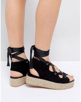 Jaycena Lace Up Espadrille Sandals