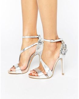 Giselle Butterfly Metallic Heeled Sandals